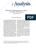 "Microsoft's ""Applications Barrier to Entry:"" The Missing 70,000 Programs, Cato Policy Analysis No. 380"