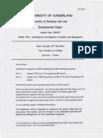 CDBM July 2012 Exam