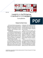 Instability in the Philippines