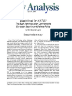 Death Knell for NATO? The Bush Administration Confronts the European Security and Defense Policy, Cato Policy Analysis No. 394