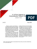 A 10-Point Agenda for Comprehensive Telecom Reform, Cato Briefing Paper No. 63