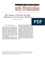 The Impact of Social Security Reform on Low-Income Workers, Cato Social Security Choice Paper No. 23