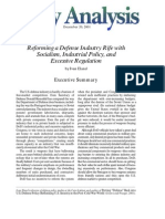 Reforming a Defense Industry Rife with Socialism, Industrial Policy, and Excessive Regulation, Cato Policy Analysis No. 421