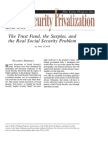 The Trust Fund, the Surplus, and the Real Social Security Problem, Cato Social Security Choice Paper No. 26