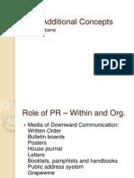 PRM Additional Concepts