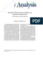 Election 2002 and the Problems of American Democracy, Cato Policy Analysis No. 451