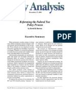 Reforming the Federal Tax Policy Process, Cato Policy Analysis No. 463