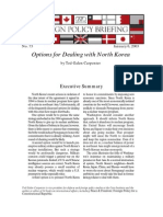 Options for Dealing with North Korea, Cato Foreign Policy Briefing No. 73