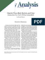 Cigarette Taxes, Black Markets, and Crime