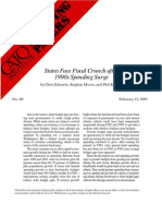 States Face Fiscal Crunch after 1990s Spending Surge, Cato Briefing Paper No. 80