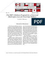 The IMF's Dubious Proposal for a Universal Bankruptcy Law for Sovereign Debtors, Cato Foreign Policy Briefing No. 75