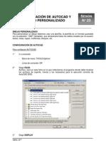 23-Configuración de AutoCAD y Dibujo Personalizado