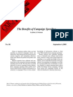 The Benefits of Campaign Spending, Cato Briefing Paper No. 84