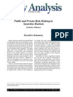 Public and Private Rule Making in Securities Markets, Cato Policy Analysis No. 498