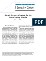 Social Security Choices for the 21st-Century Woman, Cato Social Security Choice Paper No. 33