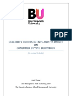 Impact of celebrity endorsement