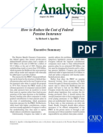How to Reduce the Cost of Federal Pension Insurance Cato Policy Analysis No. 523