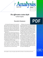 The Affirmative Action Myth Cato Policy Analysis No. 540
