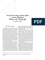 Social Security Status Quo versus Reform