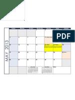 2013 Monthly Calendar Blue Landscape EDIT