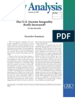 Has U.S. Income Inequality Really Increased?, Cato Policy Analysis No. 586