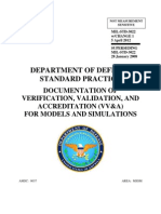 MIL-STD-3022 Documentation of Verification and Validation