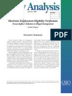Electronic Employment Eligibility Verification