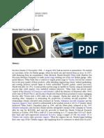 Honda Cars India Limited,Micro Economics