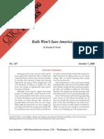Rails Won't Save America, Cato Briefing Paper No. 107