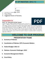 Economy of Pakistan 2012 13