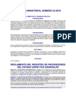 13. Reglamento Del Registro de Proveedores Del Estado