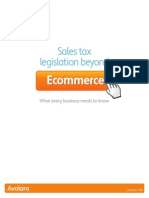Sales Tax Legislation Beyond Ecommerce 2013