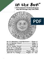 2002 Hi-Yu Summer Festival Souvenir Booklet