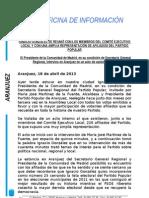 Nota Pp Ignacio Gonzalez en Aranjuez