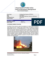Texas Department of Public Safety situation report on West, Texas