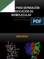 METODOS PARA SEPARACIÓN Y PURIFICACIÓN DE BIOMOLECULAS