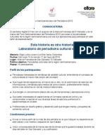 FORO2013 - Taller Periodiso Cultural 2013