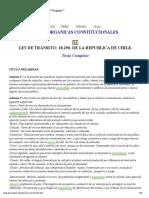 La Ley Del Transito en Chile