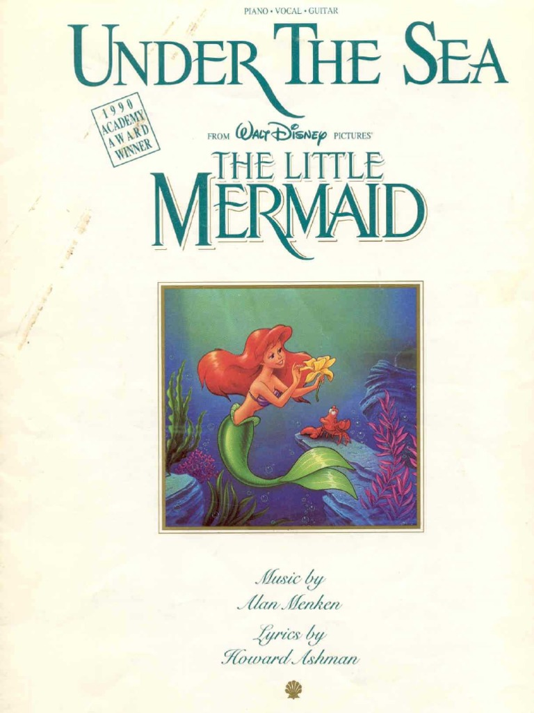 Little Mermaid Under the Sea Piano Sheet Music