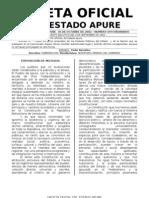 CONSTITUCION DEL ESTADO APURE-Gaceta Oficial 30-10-2002 Nº 594