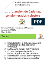 FDO. VILLARAN Promocion de Cadenas Conglomerados y Clusters-Seminario de Sierra Productiva-15Agosto2012