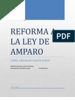 Reforma a La Ley de Amparo