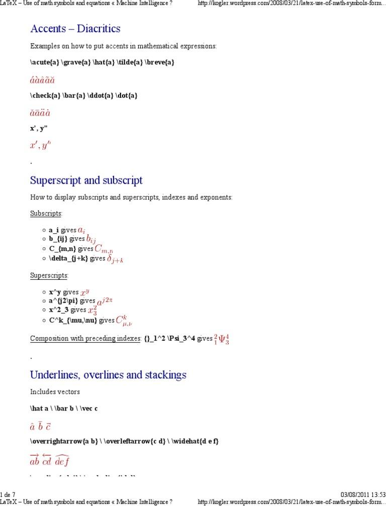 Latex Symbols   Typography   Text