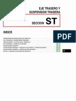 011[Manual] Nissan Tsuru 91-96 - Serie B13 Motor E16S (Carburado) - Eje Trasero y Suspension Trasera