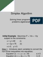 E1605 Simplex Algorithm