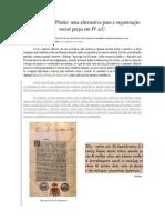 A república de platão uma alternativa para organização social grega em IV a.C