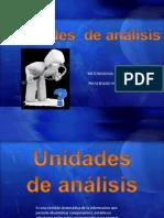Unidades de Analisis
