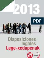 Disposiciones 2013 DEFINITIVAS