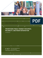 Prioritizing Public Transit for Speed, Reliability, and Rider Satisfaction