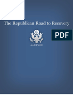 """Republican Road to Recovery"" Budget Rebuttal"